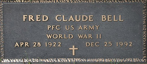 Claude F. Bell Grave Marker