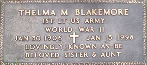 thelma blakemore grave marker