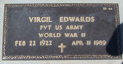 virgil edwards grave marker