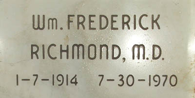 William F. Richmond Grave Marker