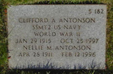 Clifford A. Antonson grave marker