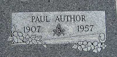 Paul A. Appling Grave Marker
