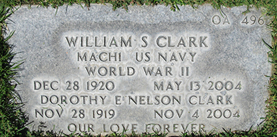William S. Clark Grave Marker