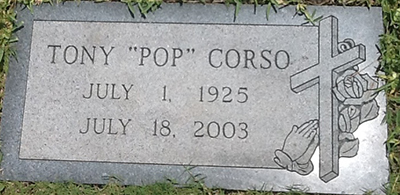 anthony corso grave marker