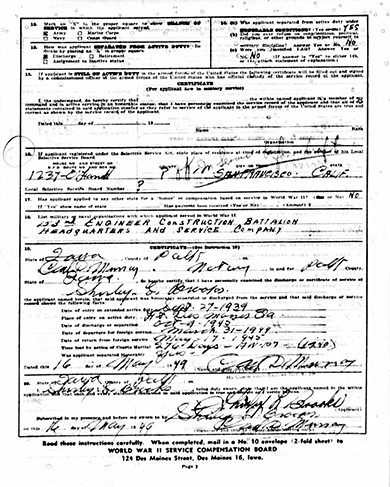 Shirley L. Brooks Veteran's Compensation Application