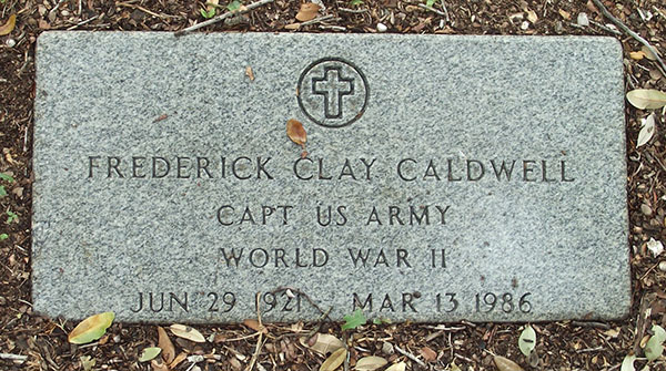 Frederick C. Caldwell Grave Marker
