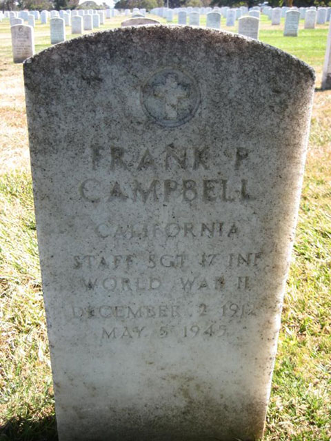 Frank P. Campbell Grave Marker