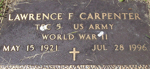 Lawrence F. Carpenter Grave Marker