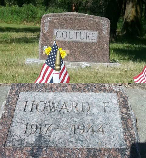 Howard E. Couture Grave Marker