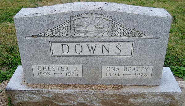 Chester J. Downs Grave Marker