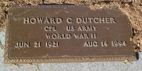 Howard C. Dutcher Grave Marker