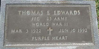 Thomas E. Edwards Grave Marker