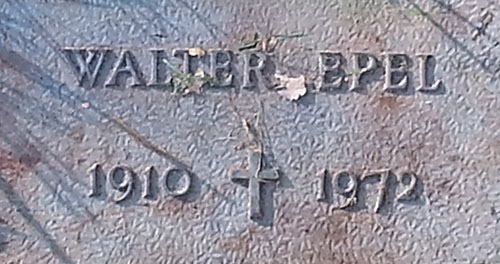 Walter Epel Grave Marker