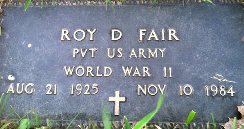Roy D. Fair Grave Marker