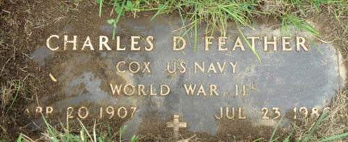Charles D. Feather Grave Marker