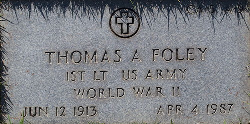 Thomas A. Foley Grave Marker