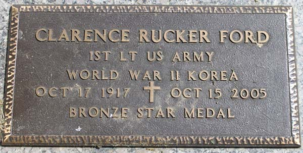 Clarence R. Ford Grave Marker