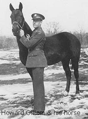 Howard M. Gillam with his horse