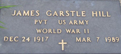 James G. Hill Grave Marker