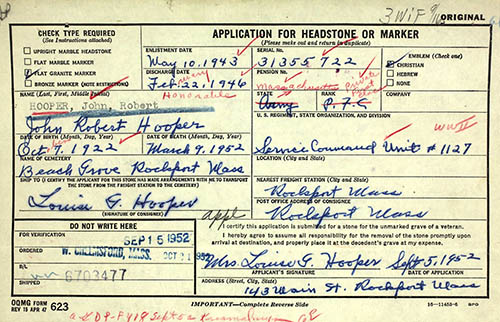 John M. Schaub Veteran's Compensation Application