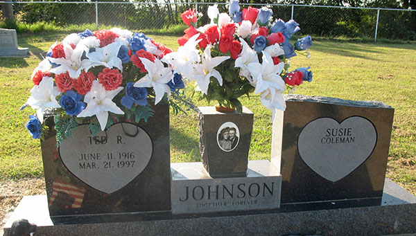 Ted R. Johnson Grave Marker