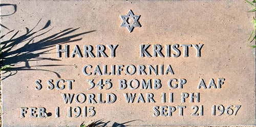 Harry Kristy Grave Marker