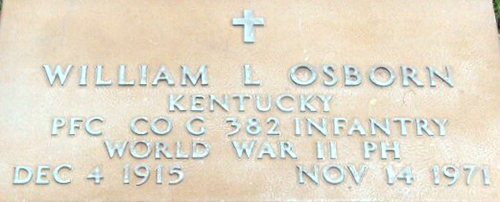 William L. Osborn Grave Marker