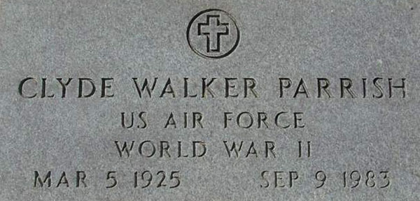 Clyde W. Parrish Grave Marker