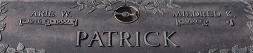 Arie W. Patrick Grave Marker