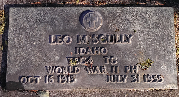 Leo M. Scully Grave Marker