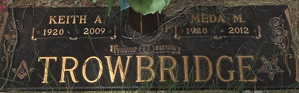 Keith A. Trowbridge Grave Marker