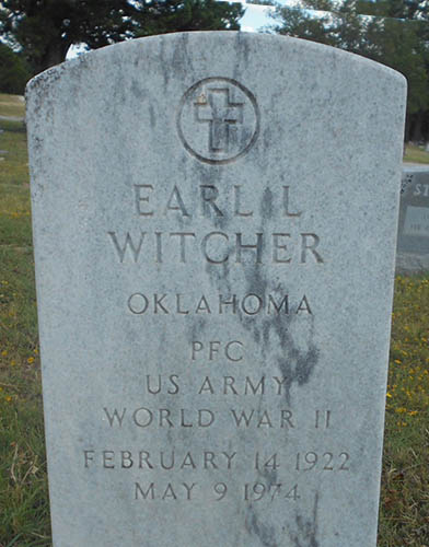 Earl L. Witcher Grave Marker