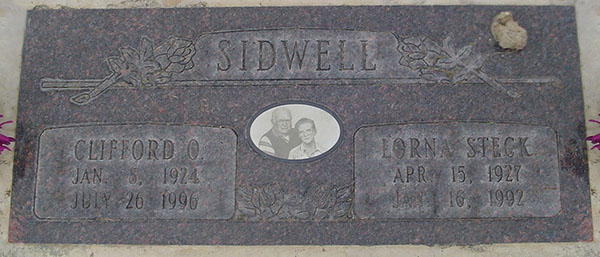 clifford o. sidwell Grave Marker