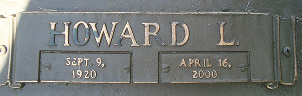 Howard L. Woodruff grave marker